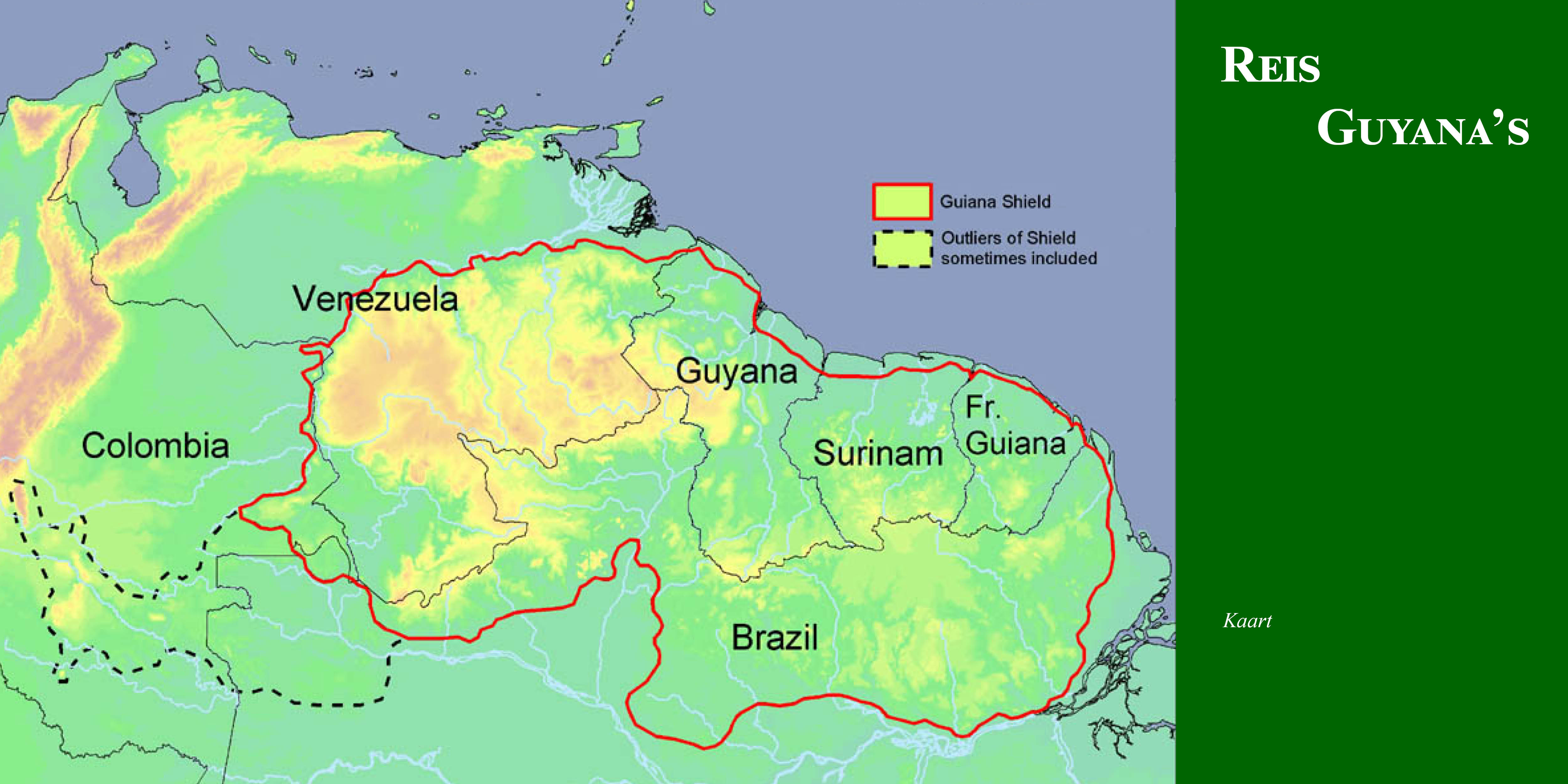 kaart guyana's